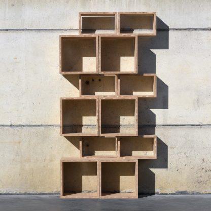 Bibliothèque (étagère) haute chêne massifmeuble bois naturel écologique